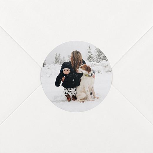 Stickers pour enveloppes vœux Photo blanc - Vue 2