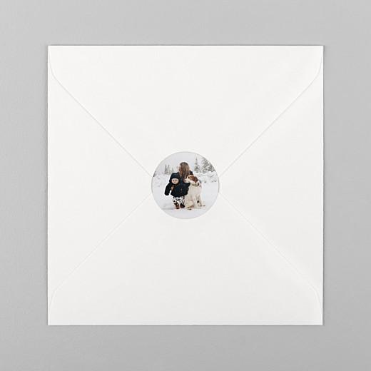 Stickers pour enveloppes vœux Photo blanc - Vue 1