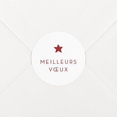 Stickers vœux elégant étoile rouge