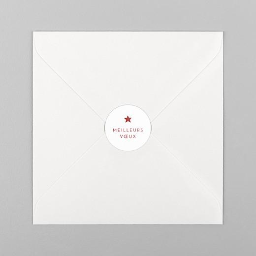 Stickers pour enveloppes vœux Elégant étoile rouge - Vue 1