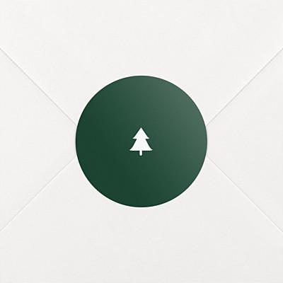 Stickers vœux elégant sapin vert