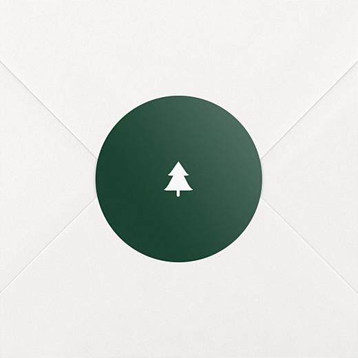 Stickers vœux Elégant sapin vert - Vue 2
