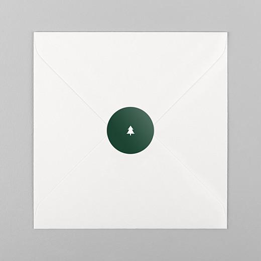 Stickers vœux Elégant sapin vert - Vue 1