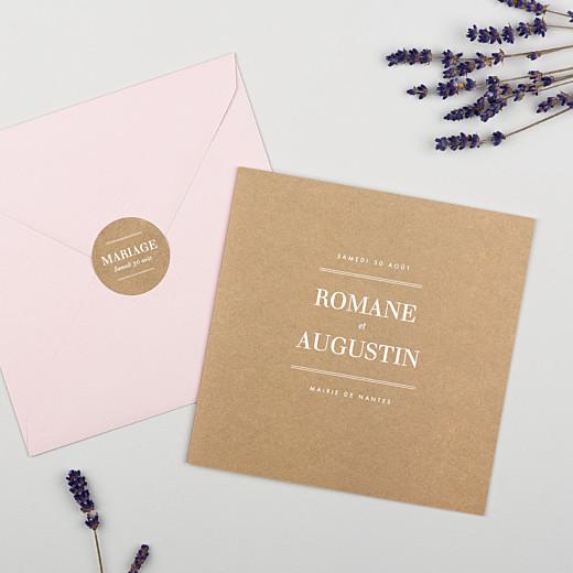 Stickers pour enveloppes mariage L'essentiel kraft - Gamme