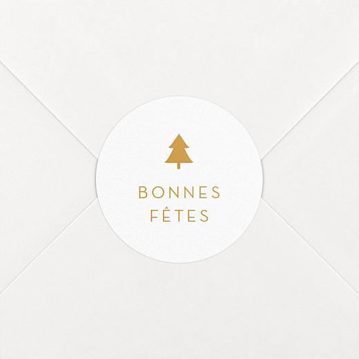 Stickers pour enveloppes vœux Elégant sapin ocre - Vue 2
