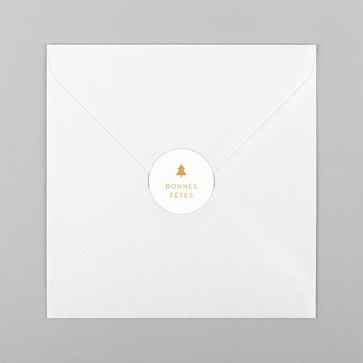 Stickers pour enveloppes vœux Elégant sapin ocre - Vue 1