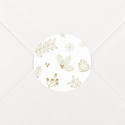 Stickers vœux dans mon jardin d'hiver ocre