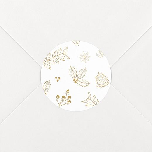 Stickers pour enveloppes vœux Dans mon jardin d'hiver ocre - Vue 2