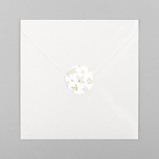 Stickers pour enveloppes vœux Dans mon jardin d'hiver ocre - Vue 1