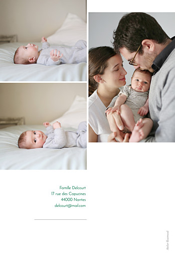 Faire-part de naissance Épuré 4 photos blanc - Page 2