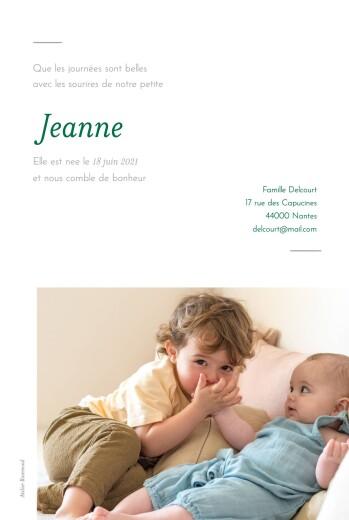 Faire-part de naissance Épuré 2 photos blanc - Page 2