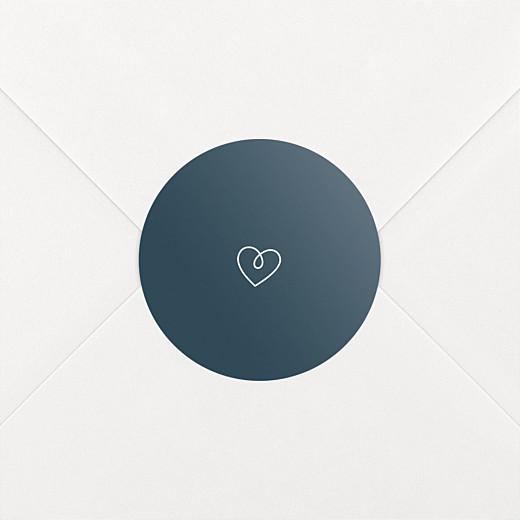 Stickers pour enveloppes naissance Mots doux bleu - Vue 2