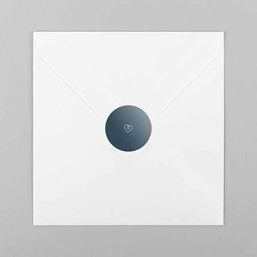 Stickers pour enveloppes naissance Mots doux bleu - Vue 1