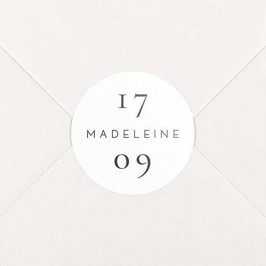 Stickers pour enveloppes naissance Esquisse fleurie blanc - Vue 2