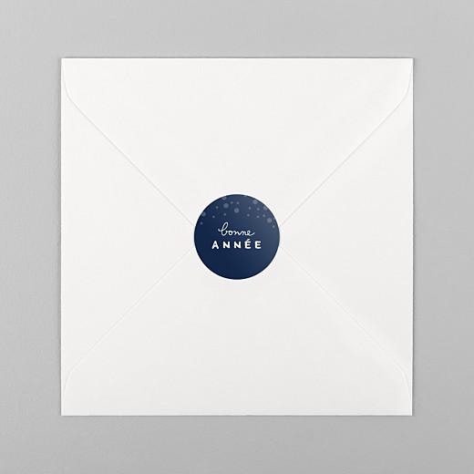 Stickers vœux Mille flocons bleu - Vue 1