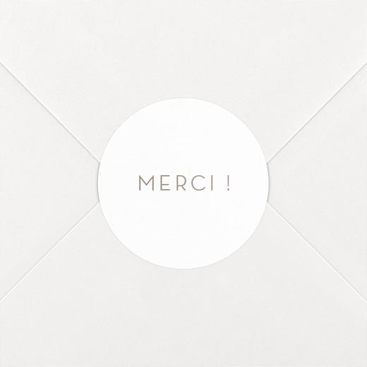 Stickers pour enveloppes mariage Simplement beige - Vue 2