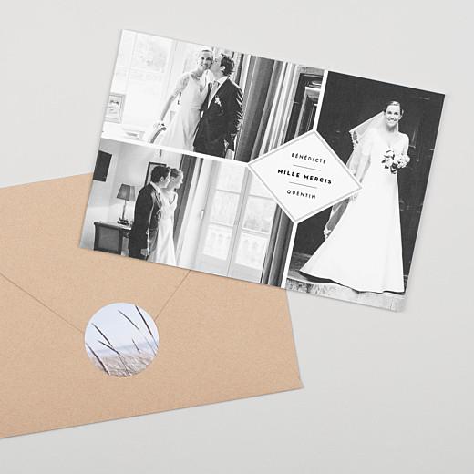 Stickers pour enveloppes mariage Photo blanc - Gamme