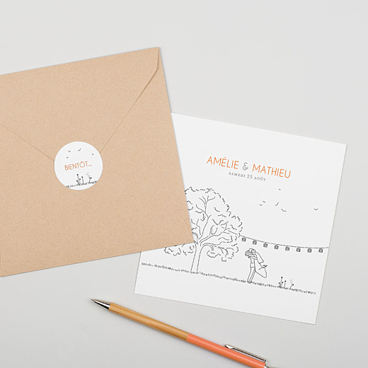 Stickers mariage Promesse champêtre blanc - Gamme