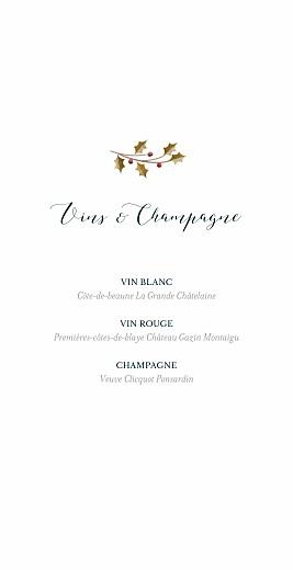 Menu de mariage Daphné (4 pages) hiver - Page 2
