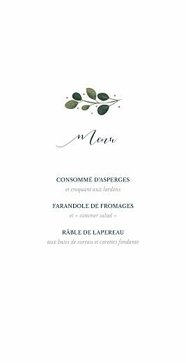 Menu de mariage Daphné (4 pages) hiver - Page 3