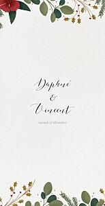 Menu de mariage classique daphné (4 pages) hiver