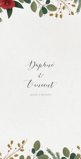 Menu de mariage Daphné (4 pages) hiver