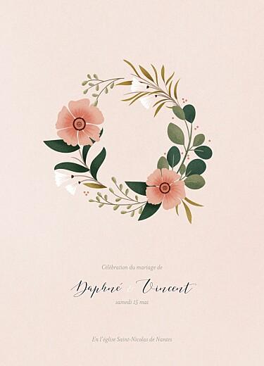 Livret de messe mariage Daphné printemps