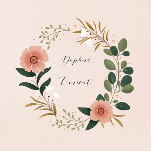 Faire-part de mariage Daphné (4 pages) printemps