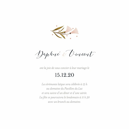 Faire-part de mariage Daphné (4 pages) printemps - Page 3