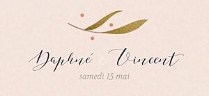 Etiquette de mariage rose daphné printemps