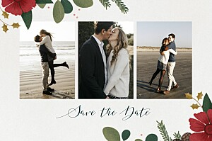 Save the date beige daphné hiver