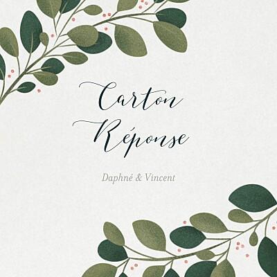 Carton réponse mariage Daphné hiver finition