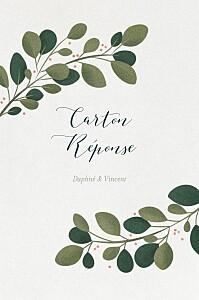 Carton réponse mariage blanc daphné portrait hiver