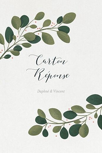 Carton réponse mariage Daphné portrait hiver