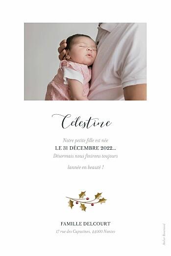 Faire-part de naissance Daphné portrait hiver - Page 2