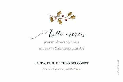 Carte de remerciement Daphné hiver - Page 2
