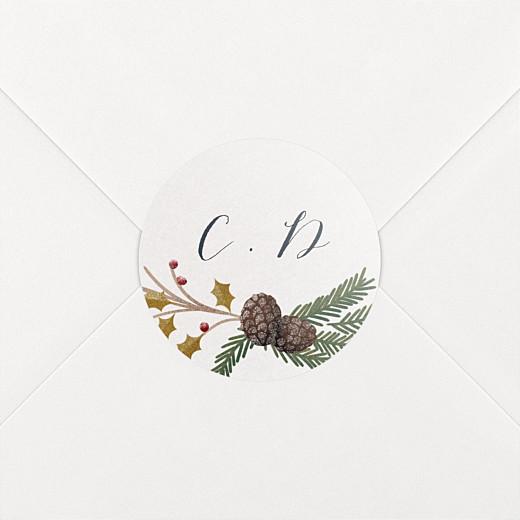 Stickers Naissance Daphné hiver - Vue 2