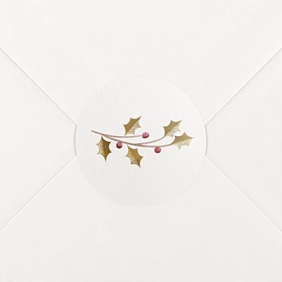 Stickers vœux daphné blanc