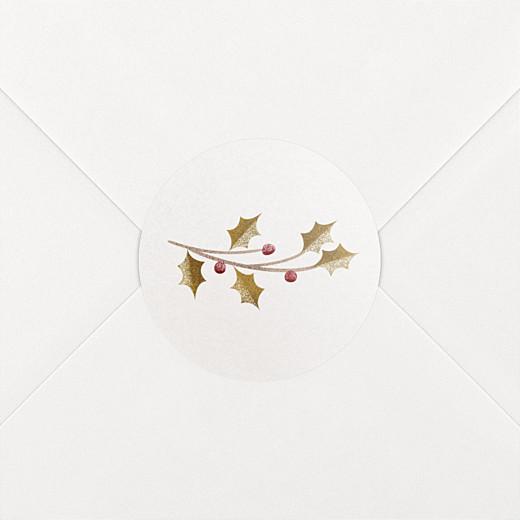 Stickers vœux Daphné blanc - Vue 2
