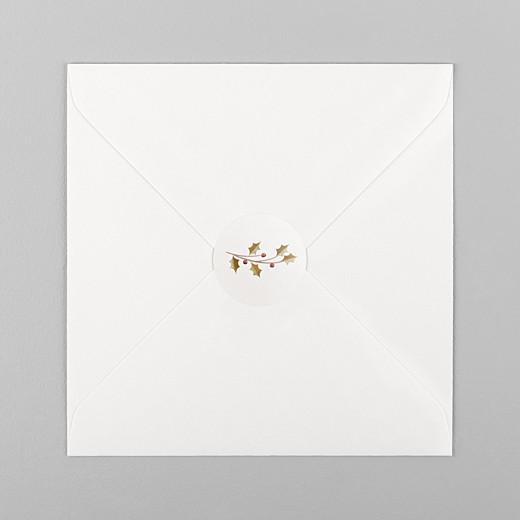 Stickers pour enveloppes vœux Daphné blanc - Vue 1