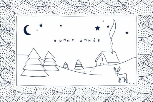 Carte de voeux Douce nuit photo bleu nuit
