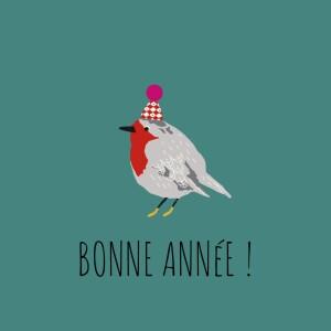 Carte de voeux Petit moineau photo (4 pages) canard