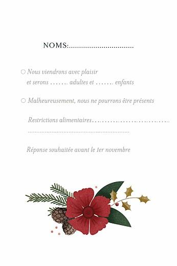 Carton réponse mariage Daphné portrait hiver - Page 2