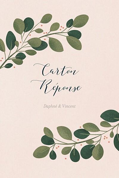Carton réponse mariage Daphné portrait printemps finition