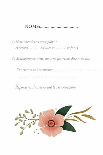Carton réponse mariage Daphné portrait printemps - Page 2