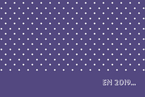 Carte de voeux violet étoiles classique photo violet