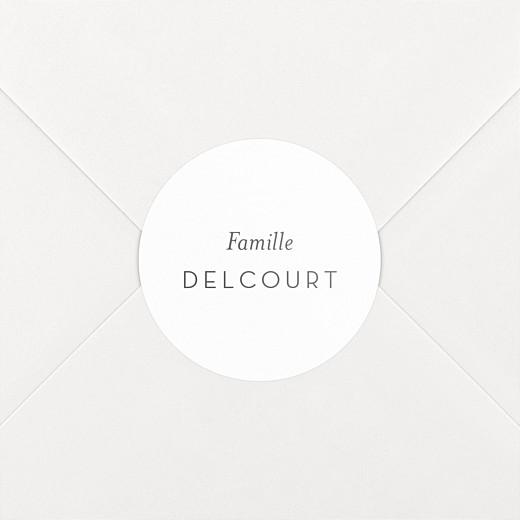 Stickers pour enveloppes vœux Simplement blanc - Vue 2