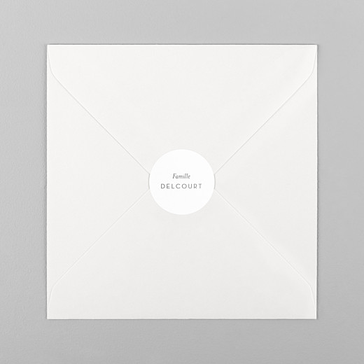 Stickers pour enveloppes vœux Simplement blanc - Vue 1