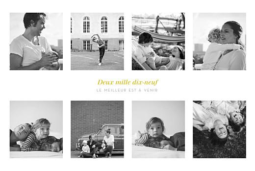 Carte de voeux 9 photos blanc