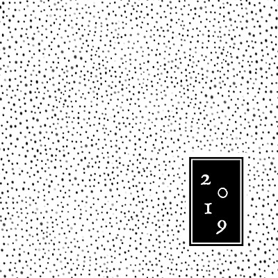 Carte de voeux Little dots noir finition